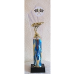 "14"" Pinewood Derby Blue Flame Column Trophies"