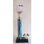 "17"" Pinewood Derby Blue Flame Column Trophies"