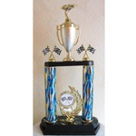 "20"" Pinewood Derby Blue Flame Column Trophies"