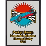 Pinewood Derby Honorable Mention Plaques