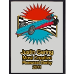Pinewood Derby Most Creative Plaques