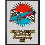 Pinewood Derby Most Colorful Plaques