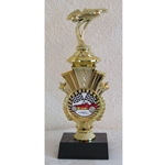 "9"" Pinewood Derby Racing Triumph Trophies"