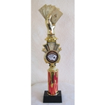"15"" Poker Red Flame Triumph Column Trophies"