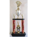 Poker Red Flame Triumph 2-Tier Column Trophies