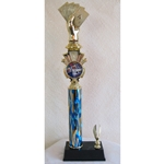 "19.5"" Poker Blue Flame Triumph Column Trophies"