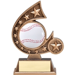 Baseball Resin Comet Series Trophies