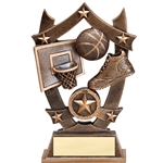 Sports Star Basketball Resin Trophies