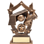 Sports Star Soccer Resin Trophies