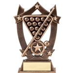 Sports Star Billiards Resin Trophies