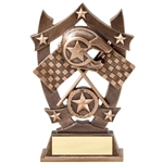 Sports Star Racing Resin Trophies