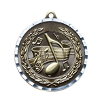 Music Gold Diamond Cut Medals