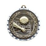 Volleyball Gold Diamond Cut Medals