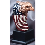 Eagle Head with American Flag Trophies