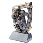 3D Star Football Resin Trophies