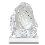 Praying Hands Sculpted Glass Awards