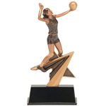 Female Volleyball Star Power Trophies