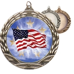 American Flag Insert Medals