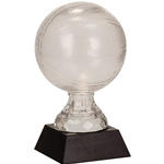 Small Basketball Premier Glass Trophies