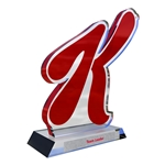 Custom Acrylic Awards Cut Around Your Logo (2 Piece)