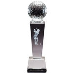 Golf Female Sport Crystal Trophies