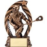 Lacrosse Male Running Star Trophies