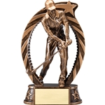 Male Golf Running Star Trophies