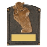 Golf Male Legends of Fame Trophy/Plaque