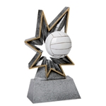 Volleyball Bobble Resin Trophies