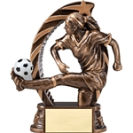 Soccer Female Running Star Trophies