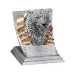 Wolf Mascot Trophies