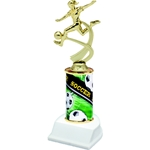 Soccer Female Sports Motion Column Trophies