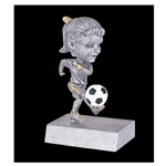 Female Soccer Rock n' Bop Bobblehead Trophies