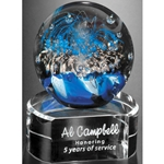 Celebration on Clear Base Glass Art Trophies