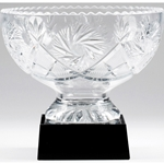 Valeur Crystal Bowl on Black Crystal Base