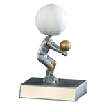 Volleyball No Face Bobblehead Trophies