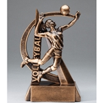 Volleyball Female Ultra Action Sports Resin Trophy