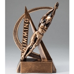 Swimming Male Ultra Action Sports Resin Trophy
