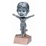 Female Gymnastics Bobblehead Trophies
