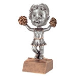 Cheerleader Bobblehead Trophy with Face