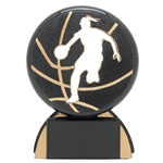 Basketball Female Shadow Sport Resin Trophies