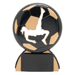 Soccer Female Shadow Sport Resin Trophies