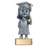 Graduate Female Bobblehead Trophies