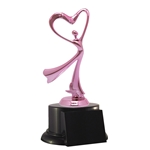 Pink Heart Trophy Award | Breast Cancer | Valentine's Day