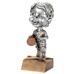 Female Basketball Bobblehead Trophy