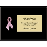 "Pink ""Breast Cancer"" Awareness Ribbon Plaques"