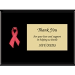 Red Awareness Ribbon Plaques