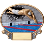 Swimming Male XPlosion Oval Trophies
