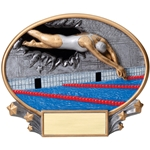 Swimming Female XPlosion Oval Trophies