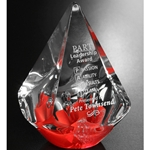 Red Quatro Pyramid Glass Art Awards